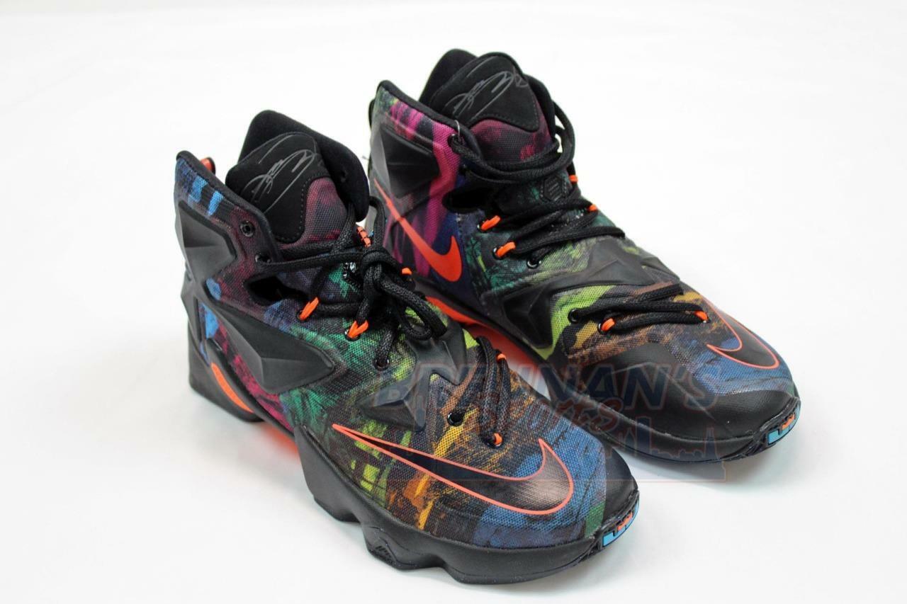 a6cecaf55eaf0 Nike Lebron XIII 13 Philosophy Akronite Multi Color Sz 9.5 807219 ...