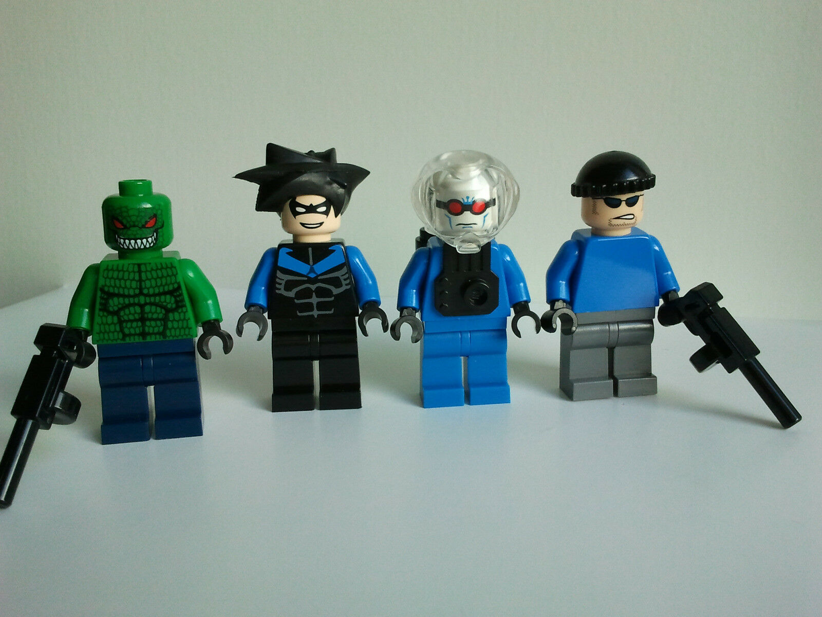 Lego Batman bat008 Killer Croc bat015 Nightwing bat011i Freeze bat012 Henchman