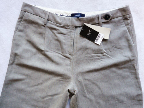 Bnwt NEXT RRP45 Femmes Gris Slouch Large Smart Casual Stretch Pantalons De Travail Pantalons 14 R