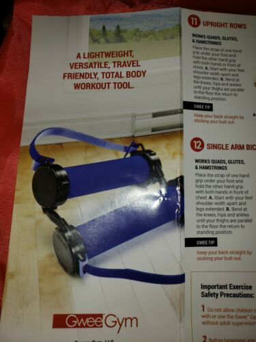 Comes w travel bag and booklet New Gwee Gym Workout Bands strength or Pilates