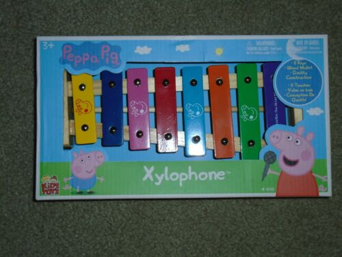 Peppa Pig Xylophone NEW Kids Musical Instrument Ages 3 8 Keys Wood Mallet