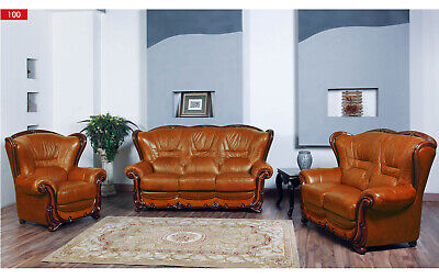 ESF 100 Full Leather 2 Piece Living Room Set Includes Sofa And Love Seat |  EBay