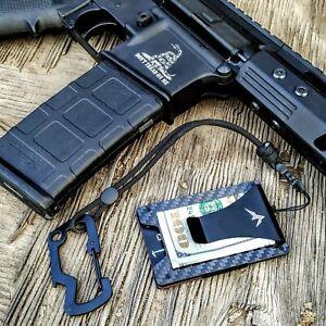 EDC-Carbon-Fiber-Men-039-s-Tactical-Wallet-Money-RFID-Blocking-Credit-Card-Holder