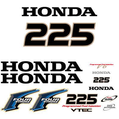Honda 225 four stroke outboard decal aufkleber adesivo sticker set