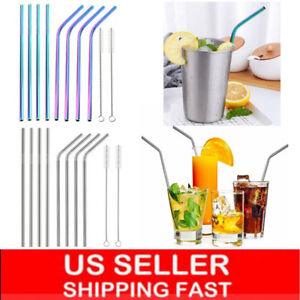 10-5-034-Stainless-Steel-Metal-Drinking-Straw-Reusable-Straws-Cleaner-Brush-Kit