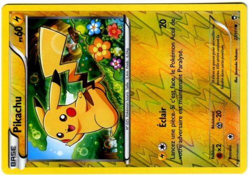 POKEMON Superbe Carte POINGS FURIEUX HOLO INV N°  27//111 PIKACHU XY3