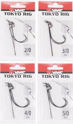 VMC Tokyo Rig 3//0 5//0 4//0 2 pack Fishing Tackle 2//0 aka Leadered Punch Shot