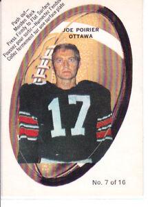 1970-OPC-O-Pee-Chee-CFL-Push-Out-Inserts-7-Joe-Poirier-Ottawa