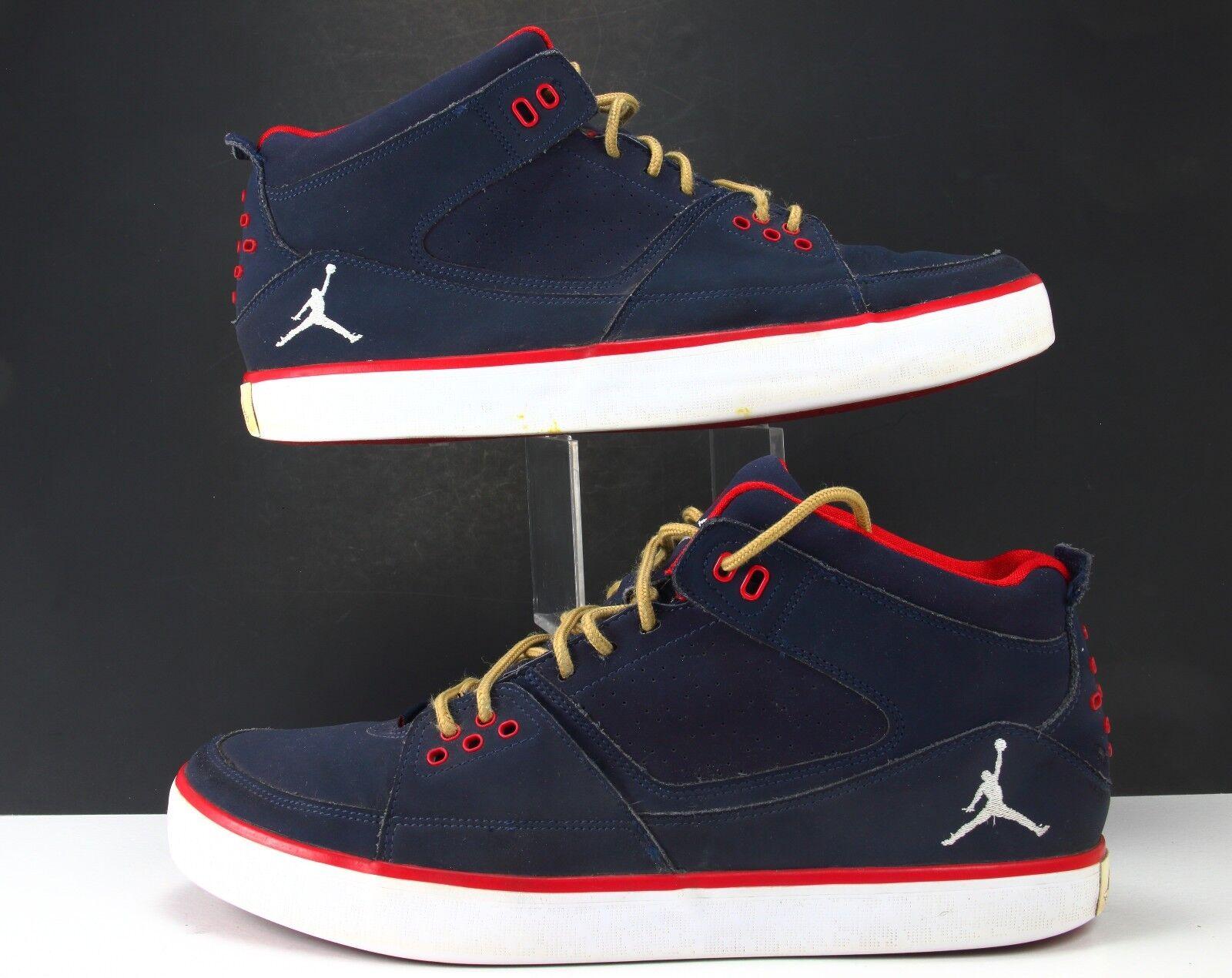 Nike Air Jordan Flight 23 AC bluee Gym Red-White 524390-403 Men's Size 11