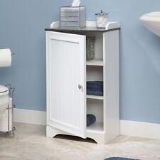 Floor Storage Cabinet Bathroom Organizer Cupboard Shelf Shelves Linen Bath Towel