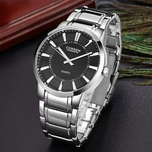 CURREN-Luxury-Men-Steel-Chronograph-Date-Watch-Analog-Quartz-Big-Dial-Wristwatch