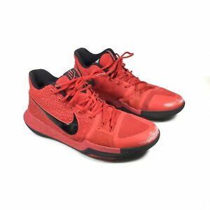 official photos 7a4df 038ff Details about Nike Kyrie 3 Three Point University Red Black 852395-600 Mens  Size US 12 EU 46