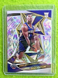 ZION-WILLIAMSON-PRIZM-FRACTAL-REFRACTOR-RC-ROOKIE-CARD-2019-20-Panini-Revolution
