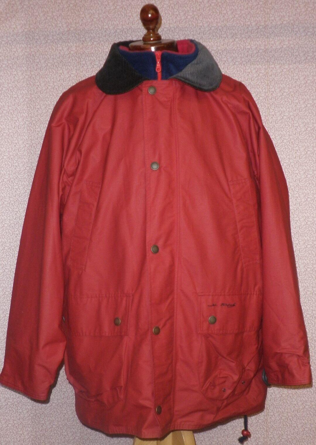Men's Men's Men's John Partridge Leggero Impermeabile Cappotto rosso taglia media 21e487