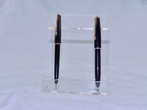 Vintage-Parker-Slimfold-Fountain-Pen-14K-nib-amp-Ballpoint-Set-Clean-Example-S2