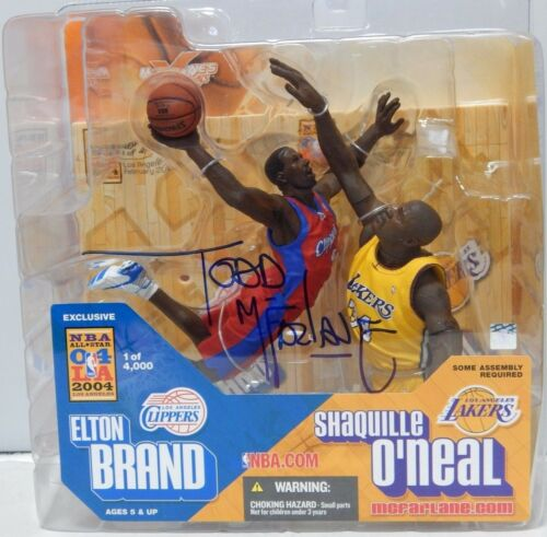 McFarlane NBA Elton Brand Shaquille O/'Neal 2004 All-Star Exclusive Signed NIB