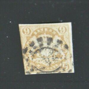 Bayern-Wappen-9-Kreuzer-braun-Mi-Nr-17-mit-oMR