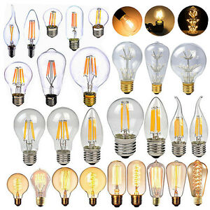 nostalgie dimmbar e27 e14 edison retro led lampe gl hbirne filament leuchtmittel ebay. Black Bedroom Furniture Sets. Home Design Ideas