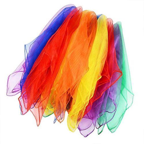 12pcs Dancing And Juggling Towels Gym Towel Dance Practical Gauze Scarf Chiffon
