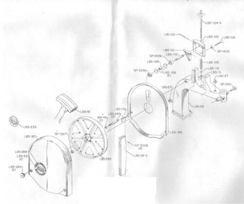 """Vintage Rockwell Delta14/"""" Band Saw Upper Wheel Bearing Set Earl Models SP-5336"""