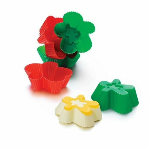 SiliconeZone Gingerbread Man Silicone Cupcake Mold Muffin Cup Set of 6