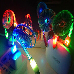 Visible-Color-LED-Light-Micro-USB-Charger-Data-Sync-Cable-For-Mobile-Smart-Phone