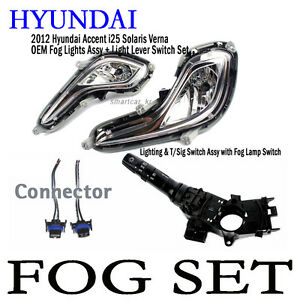 Details about OEM Fog Lamp y + Lever + Wiring 5p For 11-13 Hyundai on