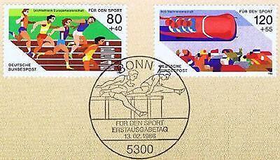 Brd 1986: Sporthilfe Nr. 1269 + 1270 Mit Bonner Ersttags-sonderstempel! 1a 156 100% Garantie