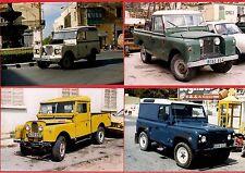 Malta Transport ~ 4 Land Rovers Set 2: Series I, II & III: Defender - late 1990s