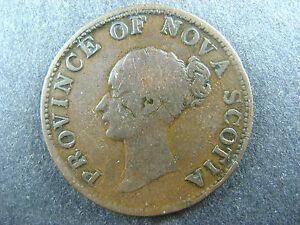 NS-1E4 PNS-506 Halfpenny token 1840 Small 0 Canada Nova Scotia Breton 874