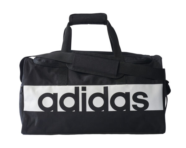 d6ef8359ab adidas Small Linear Team Bag - Black white for sale online