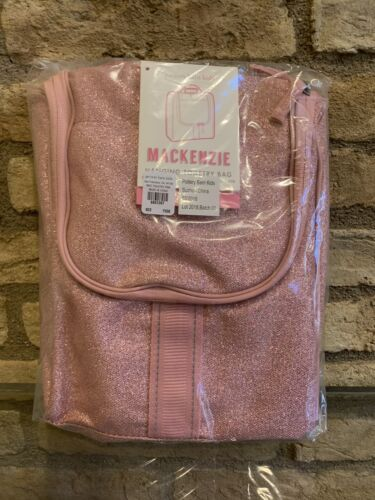 Pottery Barn Kids Mackenzie Pink Glitter Toiletry Bag New