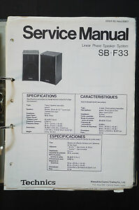 technics sb-f33 original speaker service manual/service-manual/wiring  diagram! | ebay  ebay