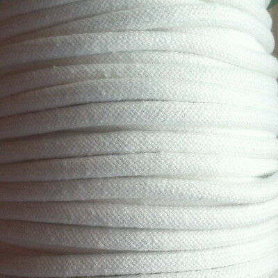 "THICK PIPING CORD. 8MM (5/16"") SMOOTH WHITE CORD X 5 METRES"