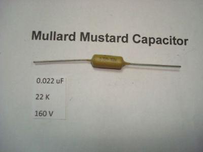 MULLARD MUSTARD CAPACITOR 0.022uF 22K 160V 10/% *1PC* HIFI RC1