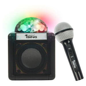 Vivitar-Ising-Bluetooth-Wireless-Karaoke-Speaker-w-Microphone-Lights-Kids-Party