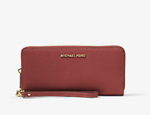 c9919bef0c2ab New Authentic Michael Kors Jet Set Travel Leather Continental Wallet ...