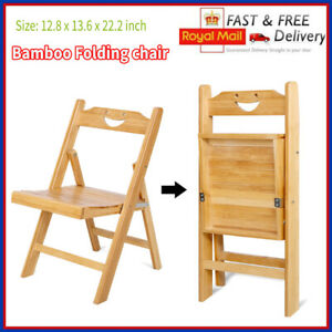 Folding Chairs Bamboo Studying Dining Student Chair