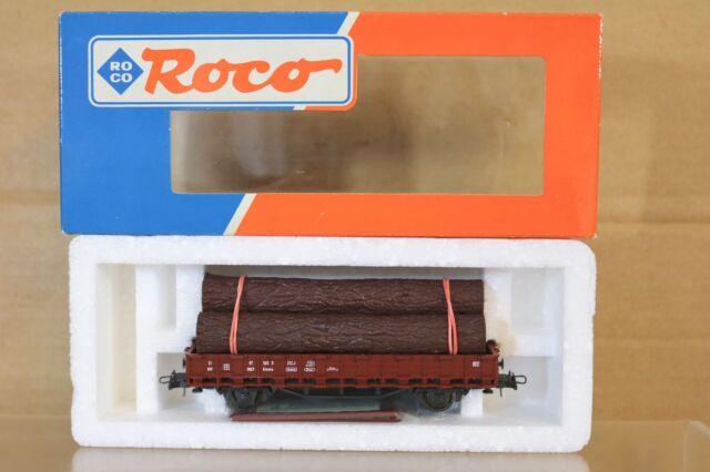 Roco 46305 SNCF Rungenwagen Einsatz mit Log Belastung Ungebraucht Verpackt Nq