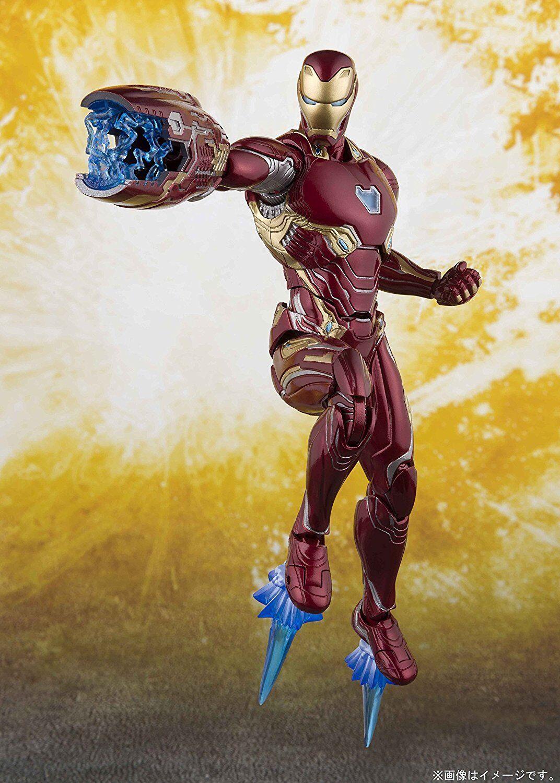 Japón Raro Bandai S.h. Figuarts Infinity Guerra Iron Man Mark 50 acción figura menta en caja sellada