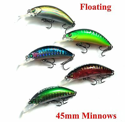 Banshee Fishing lures 45mm Bream Bass Trout Redfin Cod Flathead Whiting Minnow