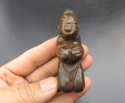 China Ancient Hongshan Culture Meteorite woman Exquisite Hand carved Pendant
