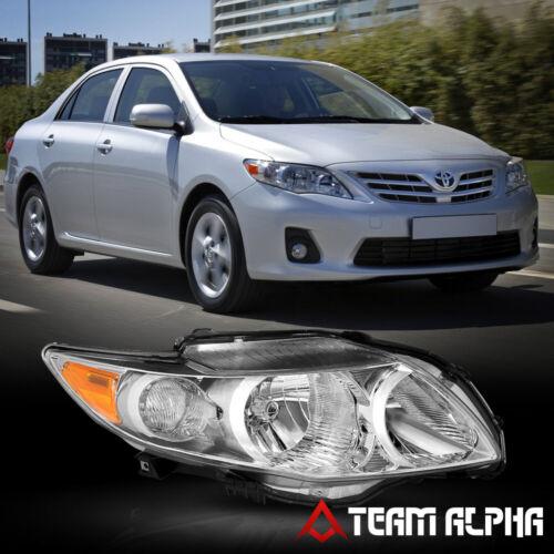 Chrome Replacement Headlight Fits 2009-2010 Toyota Corolla RH Passenger Side