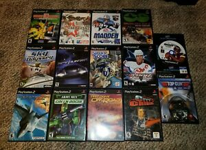 14-Playstation-2-PS2-Game-Lot-Test-Drive-City-Crisis-Ace-Combat-Spy-Hunter