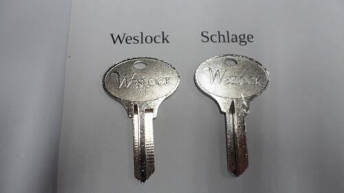READ LISTING BEFORE ORDER Weslock Logo Key Blanks in Weslock or Schlage keyway