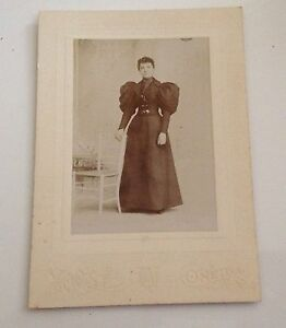 Cabinet-Card-Photo-Oneida-NY-Vintage-Antique-Photograph-Yoost-Etta
