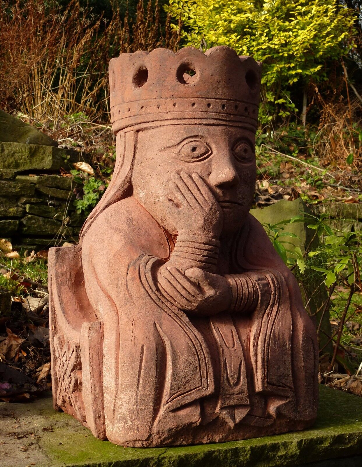Giant Queen Lewis chess piece