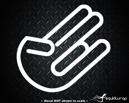 JDM The Shocker Car Vinyl Window Decal Sticker Import Hand Logo Symbol Decals