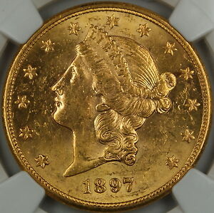 1897-S-Liberty-20-Double-Eagle-Gold-Coin-NGC-UNC-Details-Improperly-Cleaned