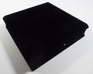 Black Velvet Necklace Earring Ring Box Jewelry Organizer Set Storage Package